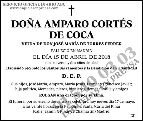 Amparo Cortés de Coca